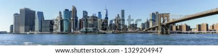Panorama view of NYC skyline