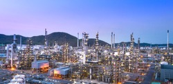 panorama view of refinery industry zone
