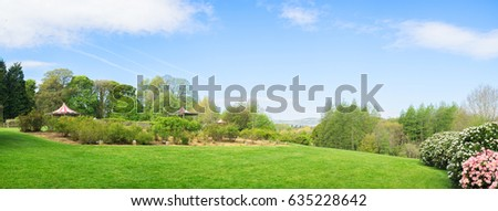 panorama view of spring countryside landscape in Northern Ireland