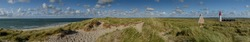 Panorama view of Sylt. List West on the elbow.
