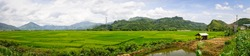 Panorama view of terraced rice field in Sapa, Northern Vietnam.