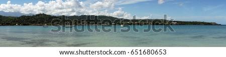 panorama view of the coastline...