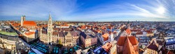 Panorama view over Munich, Bavaria, Germany