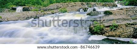 Panorama water stream