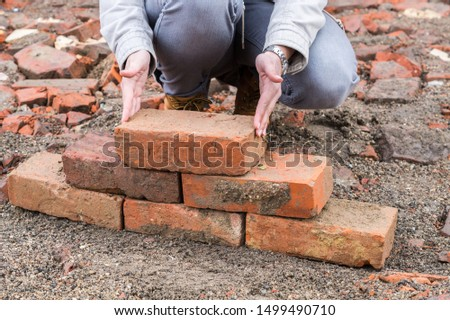 Panorama Woman reconstruction with Bricks