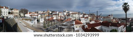 panoramatic image of lisabon