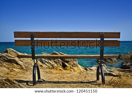 Panoramatic view  at Aegean sea on Sithonia, Halkidiki penisula, Greece