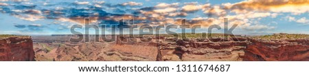 Panoramic aerial view of beautiful Dead Horse canyon, aerial view on a summer sunny day. #1311674687