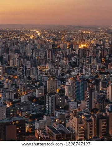 Panoramic Aerial View of Belo Horizonte, Minas Geras State, Brazil