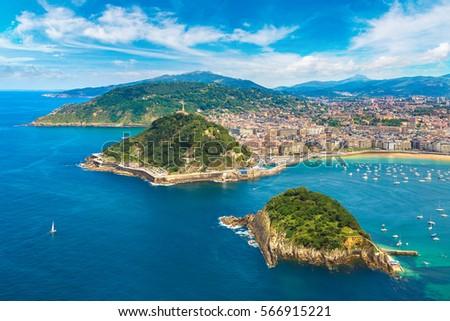 panoramic aerial view of san...