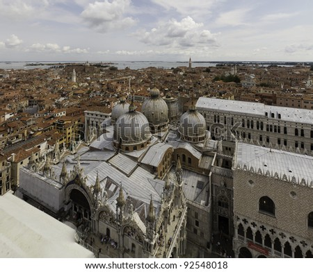 panoramic aerial view of Venice Italy