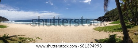 Panoramic beach from south of Reunion Island #681394993