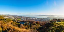panoramic belfast bay view from cavehill Northern Ireland