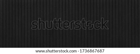 panoramic black metal siding fence striped background Foto stock ©