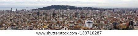 Panoramic city-view over Barcelona