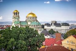 Panoramic cityscape of Sofia, Bulgaria
