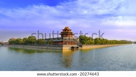 Panoramic Forbidden city in Beijing,China