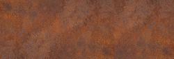 Panoramic grunge rusted metal texture, rust and oxidized metal background. Old metal iron panel. High resolution quality
