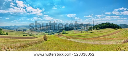 Panoramic landscape in Poland
