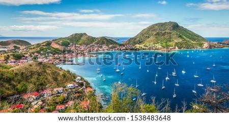 Panoramic landscape view of Terre de Haut, Guadeloupe. Photo stock ©