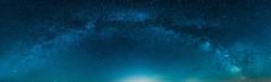 Panoramic Milky way isolated on Night Starry sky