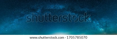 Panoramic Milky way isolated on Night Starry sky ストックフォト ©