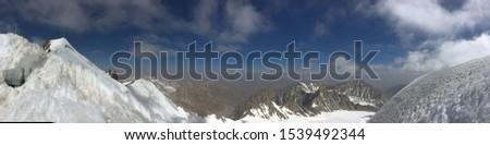 Panoramic mountain view Shugnān, Tadzhikistan