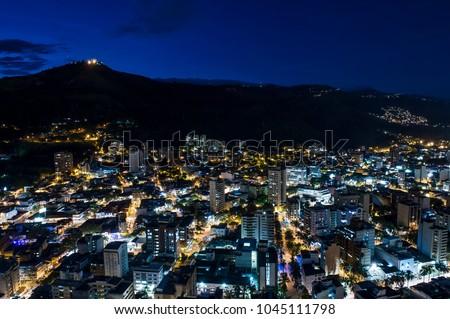 Panoramic of Cali, Santiago de Cali, Valle del Cauca, Colombia