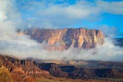 Panoramic of Colorado Canyon in USA