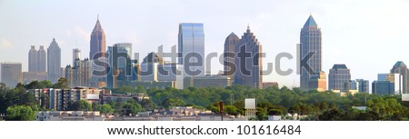 Panoramic of downtown Atlanta Georgia