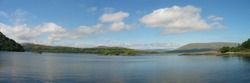 Panoramic of Louch corrib, ireland