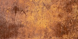 Panoramic oxidized metal surface making an abstract texture, high resolution. Grunge metal iron panel.