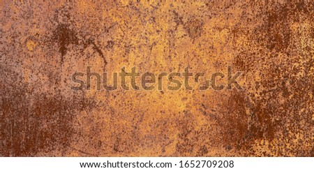 Panoramic oxidized metal surface making an abstract texture, high resolution. Grunge metal iron panel. Foto d'archivio ©