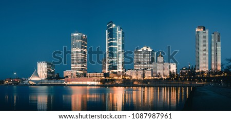 Panoramic Photo of Downtown Milwaukee