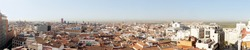 Panoramic photo of old part of Madrid, Capitol of Spain. View from above