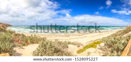 Panoramic picture of a beach on Kangaroo Island