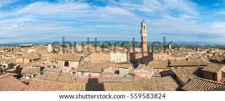 Shutterstock Panoramic picture of Siena with Piazza del Campo (Campo Square), Siena Tuscany Italy.