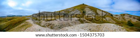 Panoramic picture of the French Creek rock agate beds in Buffalo Gap National Grassland