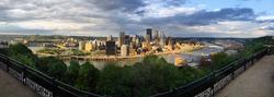 Panoramic Pittsburgh Pennsylvania Downtown City Skyline Three Rivers