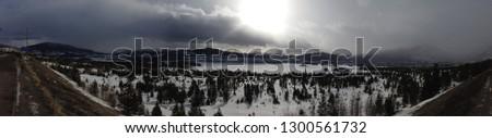 Panoramic shot of Lake Dillon, Colorado