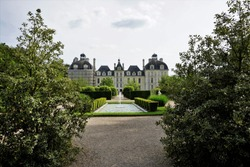 Panoramic sight of the famous  Castle Cheverny, France.