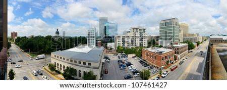 Panoramic skyline of downtown Columbia, South Carolina, USA.