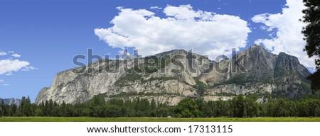 Panoramic Stitch of Yosemite National Park California - stock photo