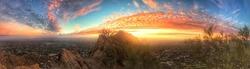Panoramic sunrise in Phoenix, Arizona