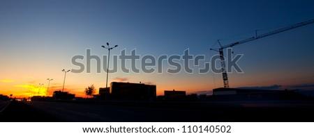 panoramic sunset  over the bulgarian capital sofia