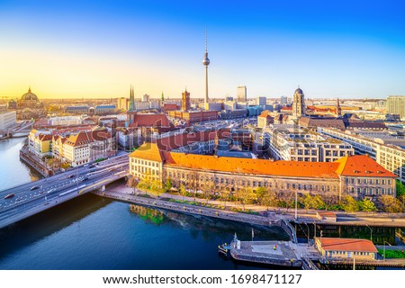 panoramic view at the city center of berlin Foto d'archivio ©