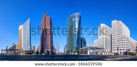 panoramic view at the potsdamer platz, berlin Stock foto ©