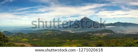 Panoramic view from Pacaya volcano