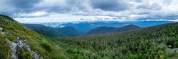 Panoramic view from the summit of the Mont-Albert in the Gaspesia national park, Canada
