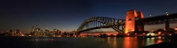 Panoramic view in Harbor Bridge, Sydney, Australian